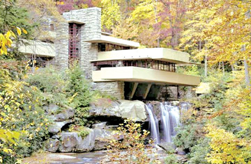 Falling water in Pennsylvania