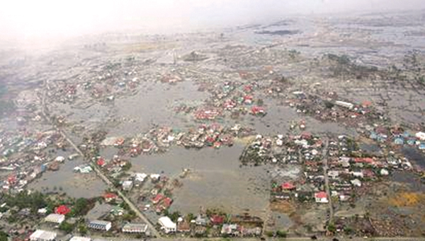 The Indonesian province of Aceh, located at the northern end of Sumatra, was the hardest hit by the tsunami. More than 130,000 people died in this region alone. This picture taken on January 8, 2005 shows the devastation caused by the tsunami in the provincial capital Banda Aceh.