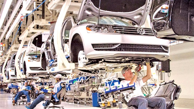 The Volkswagen plant in Germany
