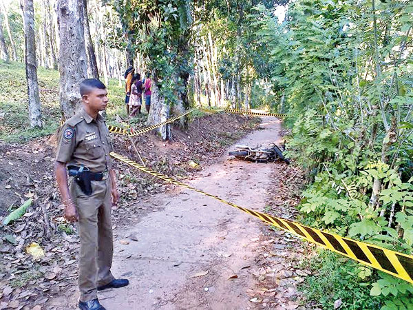 Scene of the crime. Picture by Nanadasiri Weligamage Galle District Group Corr