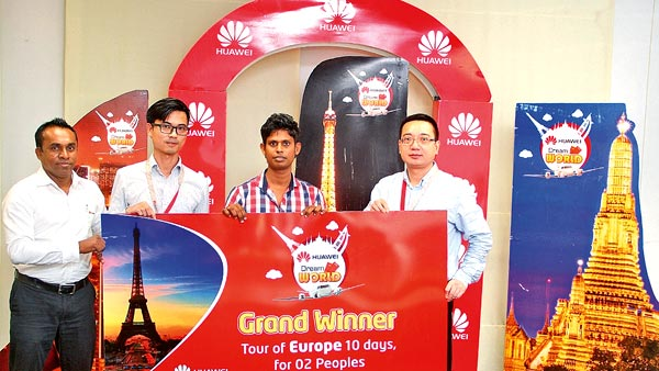 Huawei honours 'Dream World' promotion winners | Daily News