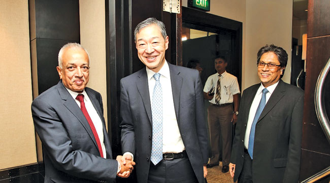 A consultation on national development cooperation and economic  policy dialogue between Sri Lanka and Japan was held recently at the  Cinnamon Lakeside Hotel, Colombo where the opening remarks was made by Minister Malik Samarawickrema greeting International Affairs Ministry Vice Minister Hirofumi Katase.