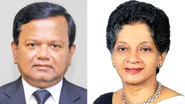 BOI Chairman Upul Jayasuriya and EDB Chairman Indira Malwatte