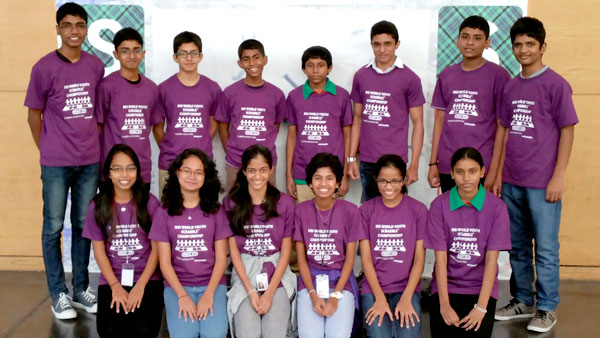The victorious Sri Lankan Youth Scrabble team