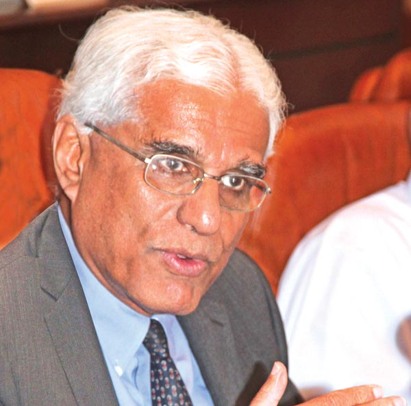 Central Bank Governor, Dr.Indrajit Coomaraswamy.  Picture by Sudam Gunasinghe
