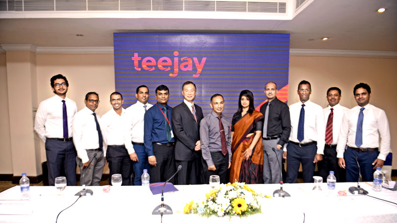 Teejay Lanka management officials at the re launch.