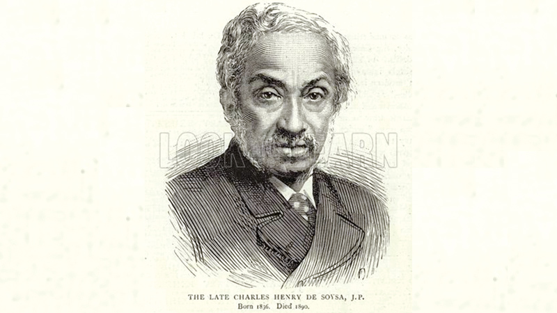 The Late Charles Henry de Soysa, JP. Illustration for The Graphic, 25 October 1890.