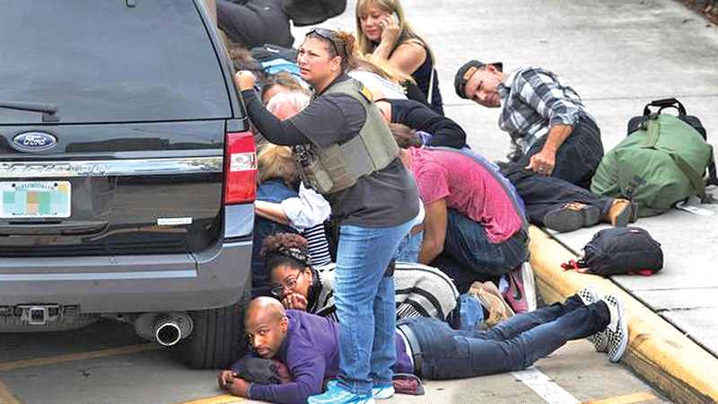 Dozens sustained injuries fleeing from the baggage claim area when the shooting broke out.