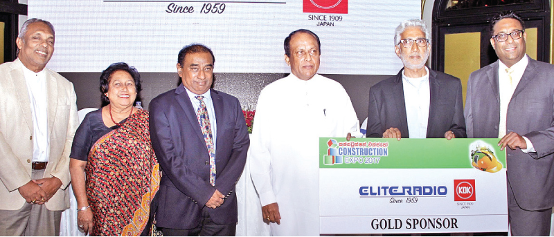 Gold Sponsor of the event Elite Radio presenting their cheque to Deputy Minister of Finance Lakshman Yapa Abeywardane. Picture by Saliya Rupasinghe