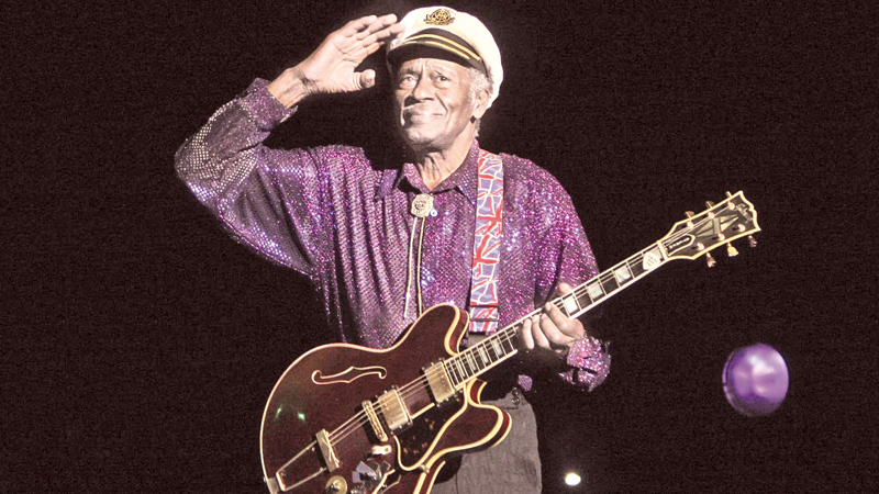 The legendary Chuck Berry takes the final bow.