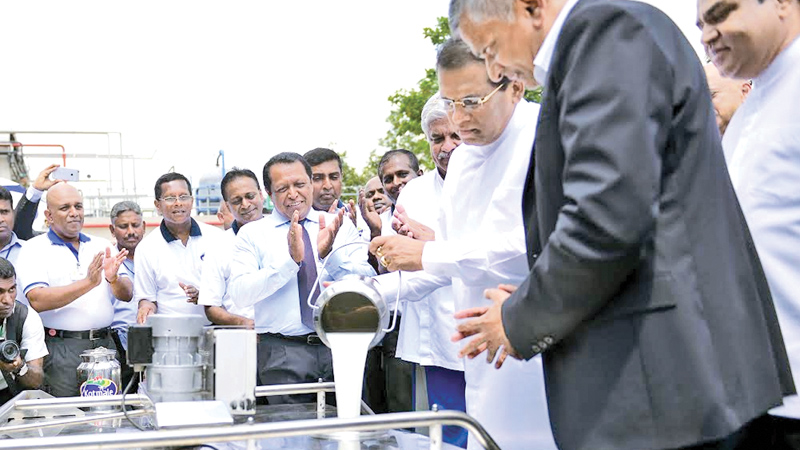 President opens new milk factory by Cargills | Daily News