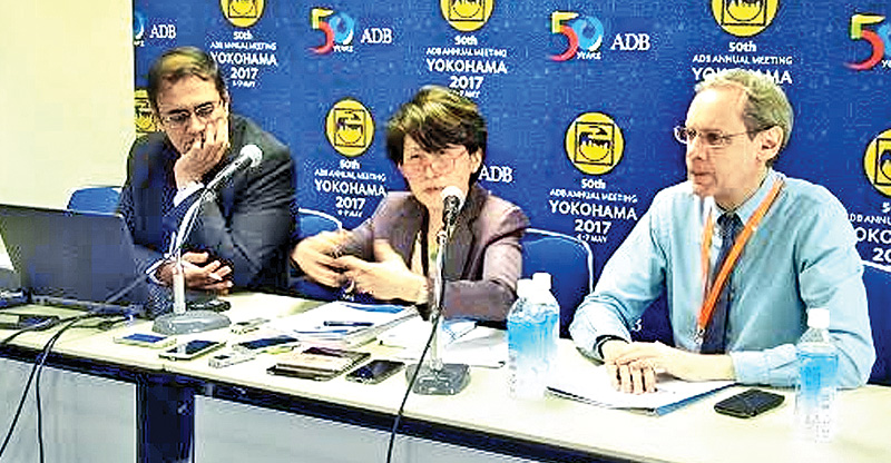 ADB Sustainable Development and Climate Change Deputy Director General, Amy Leung addressing the media yesterday. Picture by Fizel Jabir