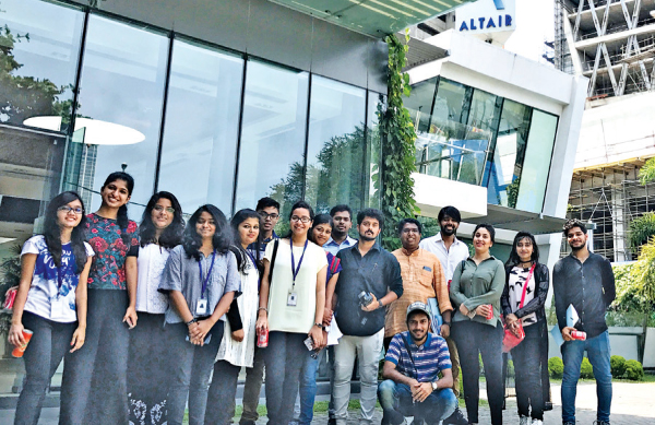 Some of the architecture students who visited the Altair site