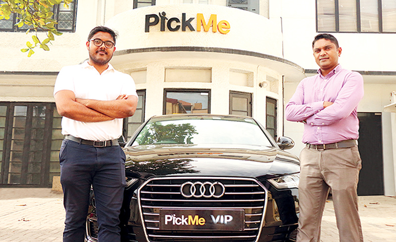 Jiffry Zulfer, Chief Executive Officer of PickMe and Indika Elvitigala, Vice President, Corporate Sales of PickMe.
