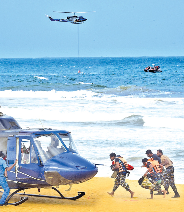 SLAF's Real time sea rescue programme