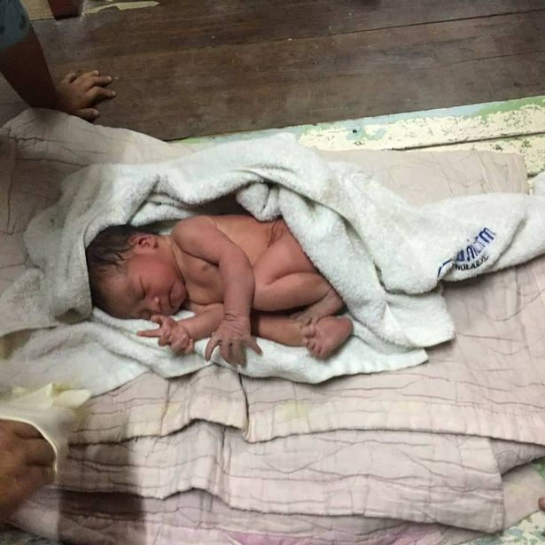 Infant abandoned in partially constructed house