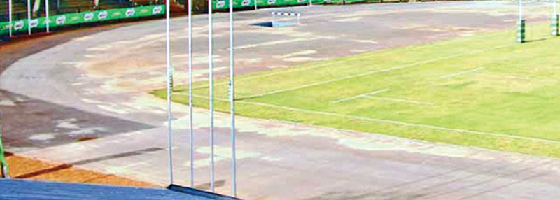 The Sugathadasa Stadium running track ready for the new redress.