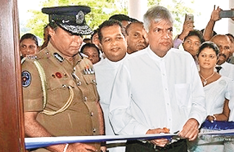 PM opens new Mawathagama police station
