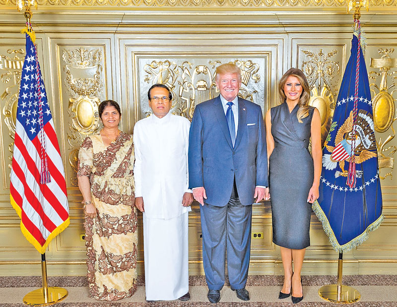 PRESIDENT ATTENDS RECEPTION HOSTED BY US PRESIDENT