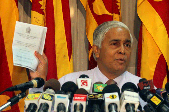 Sarath N. Silva files petition against Provincial Council Elections (Amended) Bill
