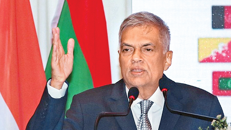 Prime Minister Ranil Wickremesinghe addressing the Eighth Conference of the SAARC Speakers and Parliamentarians Association held yesterday.