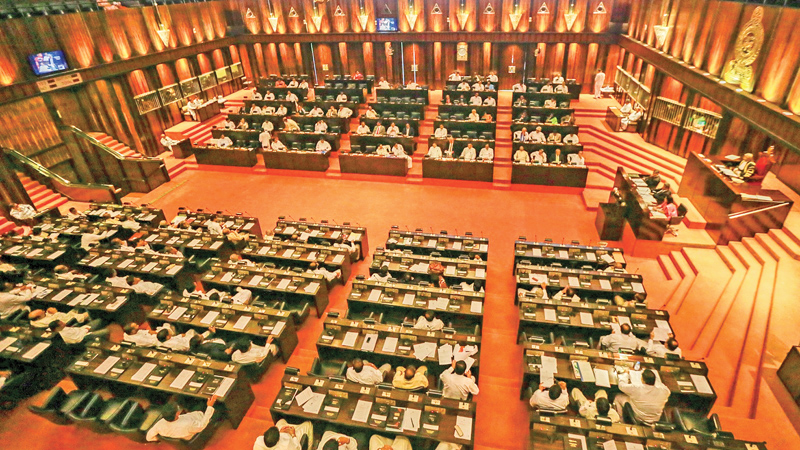 State Minister of Finance presents the Appropriation Bill to the Parliament
