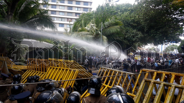 Police use water cannons and tear gas on anti-SAITM protesters