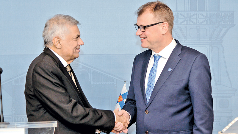 Ranil meets Finnish PM : Finland, Lanka to strengthen ties in energy sector