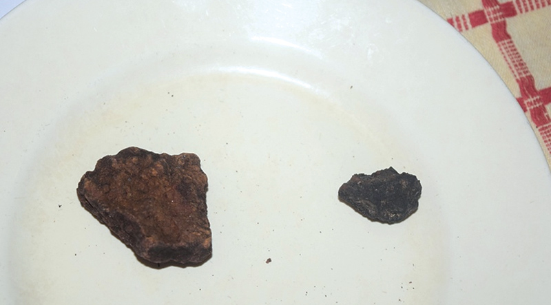 Meteorite particle found from roof of Dinamina journalist's house