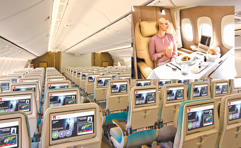 A new generation Emirates' award winning inflight entertainment system ice