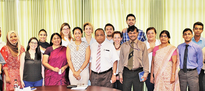 The delegation members  with National Integration and Reconciliation Ministry Secretary V.Sivagnanasothy