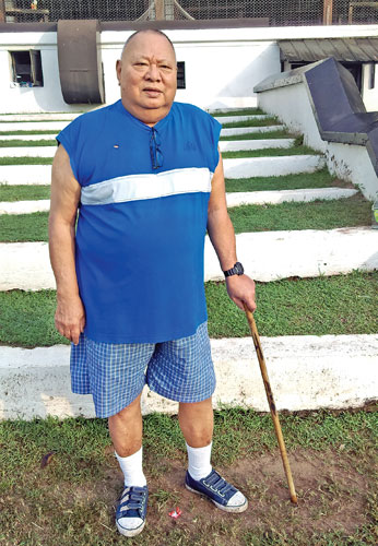 YC Chang at 78 takes his morning walk at CH&FC.