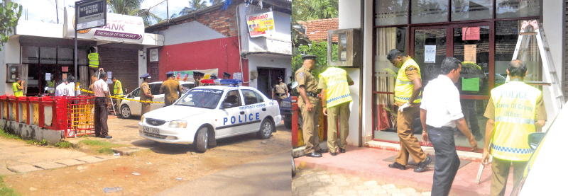 Police conducting investigations. Picture by G. Sirisena, Dikwella Special