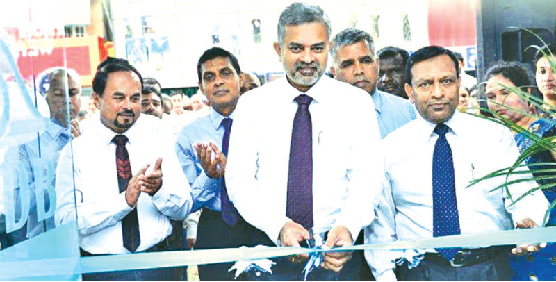 RDB Chairman Prasanna Premarathna, Working Director Priyantha Abeysinghe and General Manager and CEO T.A. Ariyapala at the opening.