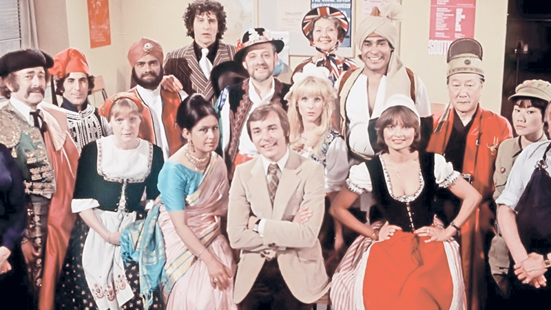 The Mind Your Language cast.