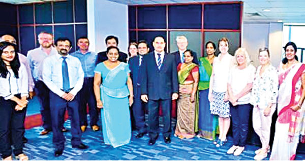Representatives of Liverpool John Moores University together with SLIIT Business faculty.