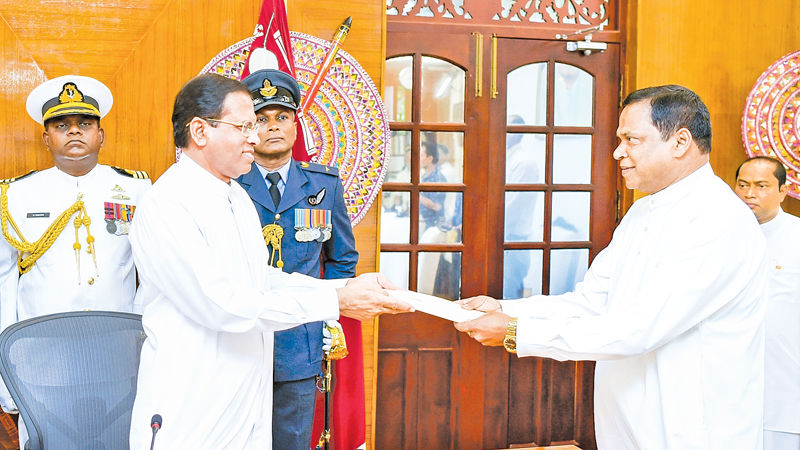 Piyasena Gamage sworn in as the State Minister of Law and Order and Southern Development