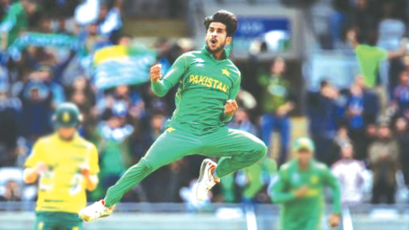 The Pakistani pacer Hasan Ali broke the back of the South African  batting  line up