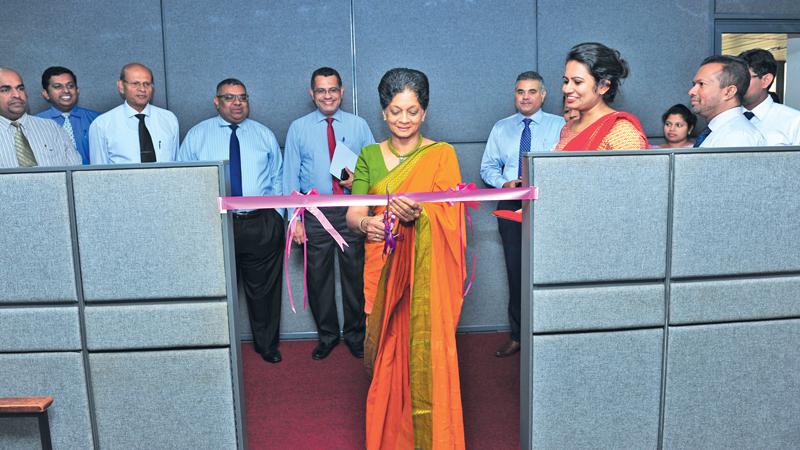 Export Development Board Chairperson and Chief Executive Officer Indira Malwatte officially launching the Lankan Rubber Global Consortium Pvt Ltd (LRGC) at the EDB office Colombo.