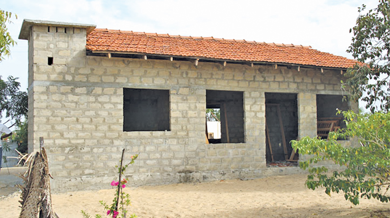 A house under construction for the underprivileged.
