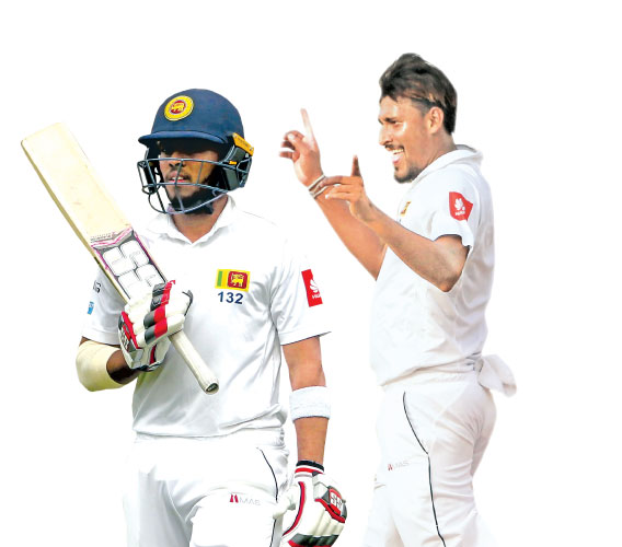 Sri Lanka's cricketer Kusal Mendis who made 68 walks after his dismissal by Bangladesh cricketer Abdur Razzak during the first day of the second cricket Test between Bangladesh and Sri Lanka at the Sher-e-Bangla national cricket stadium in Dhaka on February 8. -AFP