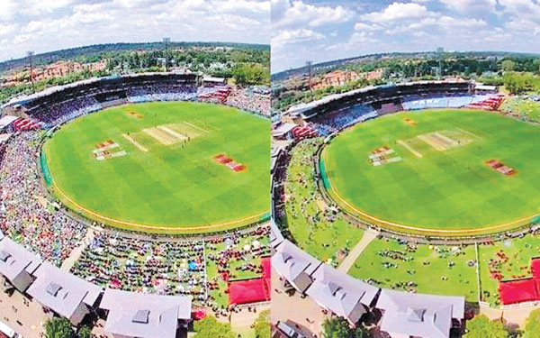 SuperSport Park before and after the lunch break.