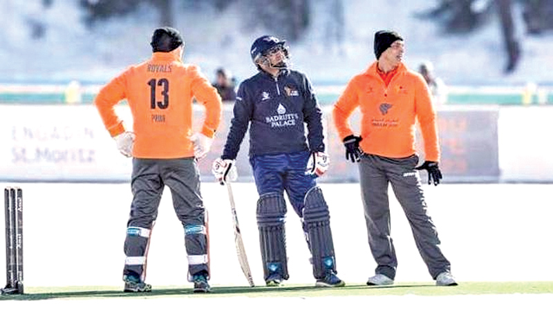 With ice cricket the sport took a step into the world of winter sports.