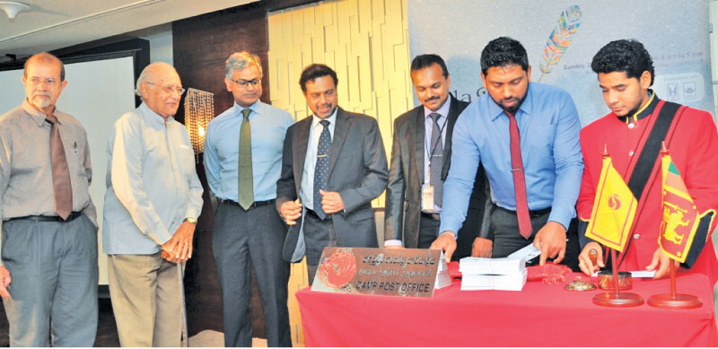 Launching of the stamp. Pictures by Thushara Fernando
