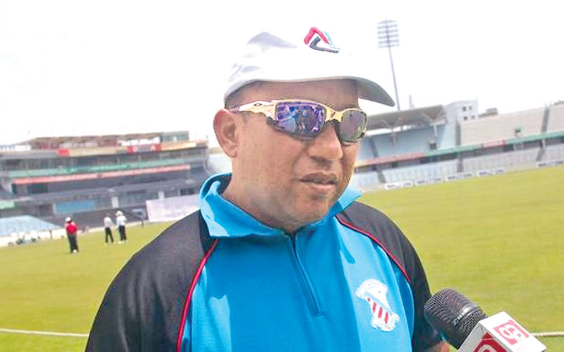 Bangladesh interim  coach Khaled Mahmud