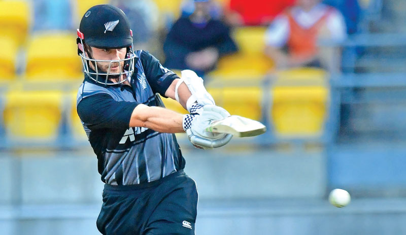 New Zealand's Kane Williamson bats during the first Twenty20 cricket match between New Zealand and England at Westpac Stadium in Wellington.