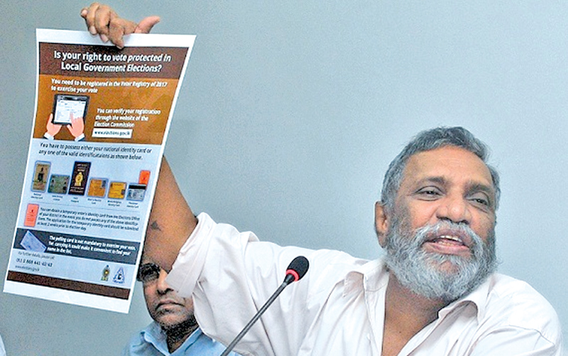 Elections Commission Chairman Mahinda Deshapriya. Picture by Siripala Halwala