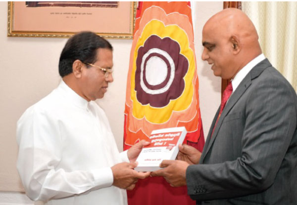 A copy of the book was presented to President Maithripala Sirisena recently by Franklin Covey CEO Ameer Ahamed