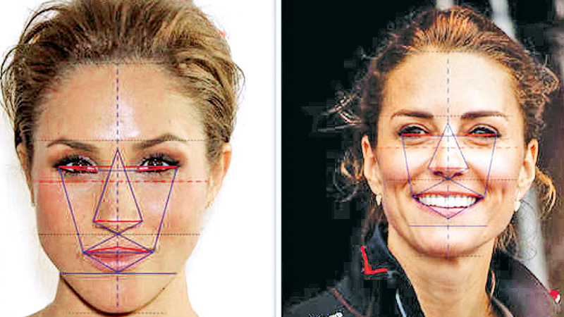 Meghan was found to have beautiful face symmetry, and a gorgeous v-shaped chin