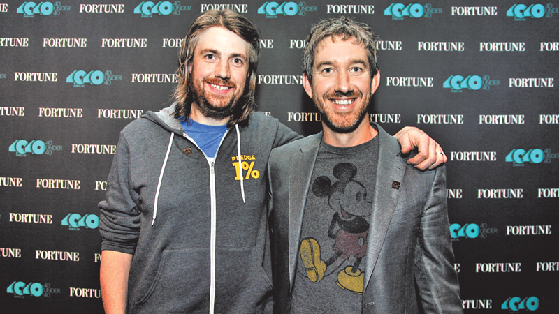 Mike Cannon-Brookes and Scott Farquhar, co-founders and co-CEOs of Atlassian